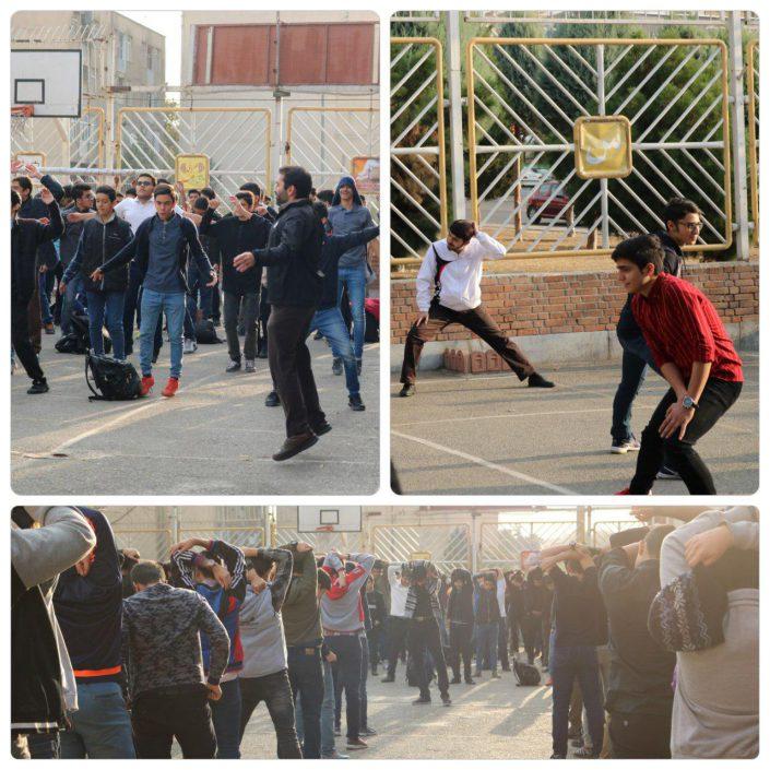 ورزش صبحگاهی دبیرستان سلام صادقیه (1)